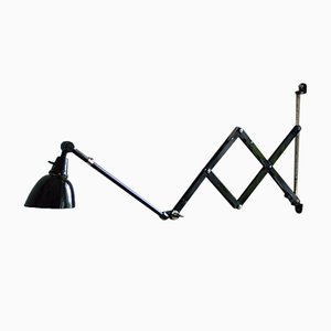 Vintage Black Scissor Lamp by Curt Fischer for Midgard