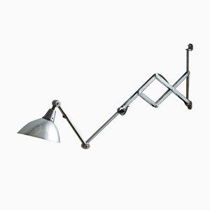 Vintage Silver Scissor Lamp by Kurt Fischer for Midgard