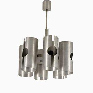 Vintage Aluminium Deckenlampe von Polam, 1970er