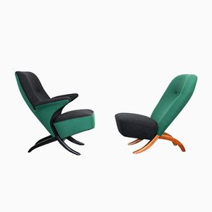 Mid-Century Congo and Penguin Lounge Chairs by Theo Ruth for Artifort, Set of 2