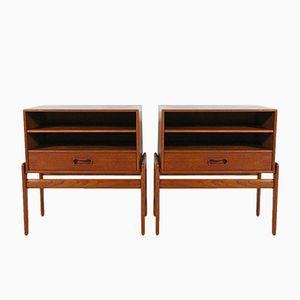 Tables de Chevet Vintage par Arne Vodder pour Vamo Sønderborg, Set de 2