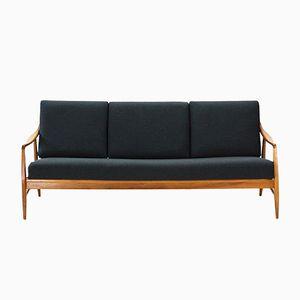 3-Sitzer Sofa in Nussholz von Laauser, 1950er