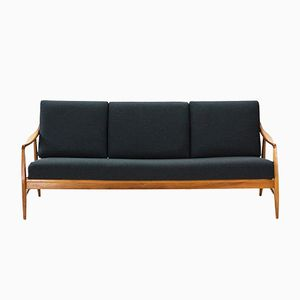 Walnut 3-Seater Sofa from Laauser, 1950s