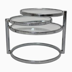 Chrome Swivel Coffee Table, 1970s
