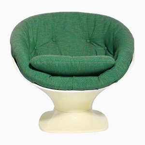 Space Age Green and Ivory Plastic Club Chair by Rafael Raffel, 1970s
