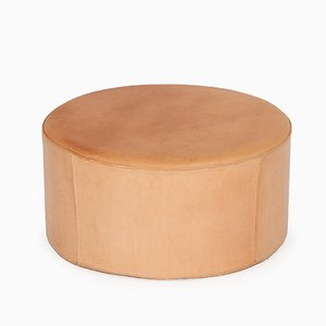 Danish Pouf in Leather by Ivan Schlechter, 1970s