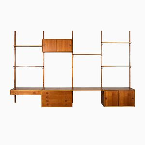 Scandinavian Modular Teak Wall Unit, 1950s