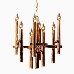 Brass Chandelier by Gaetano Sciolari, 1960s