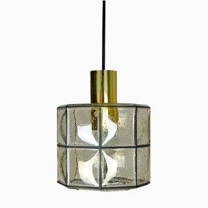 Glass Octagon Pendant from Glashütte Limburg, 1960s