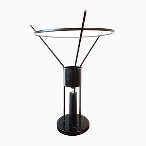 Vintage Minimalist Black Metal Uplighter Table Lamp