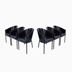 Black Costes Chairs by Philippe Starck for Driade, Set of 6