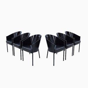 Schwarze Costes Stühle von Philippe Starck für Driade, 6er Set