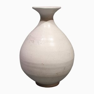Mid-Century White Vase by Svend Hammershøj for Kähler, 1950s