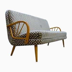 Mid-Century Sofa mit Flockprint, 1950er