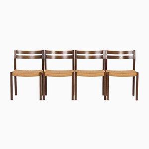 Model 401 Dining Chairs by Jorgen Henrik Møller for J.L. Møller, 1974, Set of 4