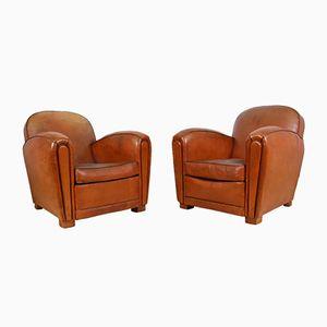 Französische Vintage Sessel, 1930er, 2er Set