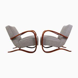 Modell H269 Sessel von Jindrich Halabala für Thonet, 1930er, 2er Set