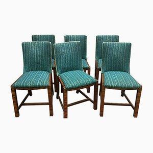 Vintage Mahagoni Esszimmerstühle, 6er Set