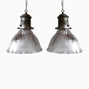 Vintage Ceiling Lamps from Holophane, Set of 2