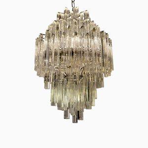 Vintage Murano Glass Triedri Chandelier from Venini