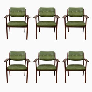 Danish Armchairs by Arne Vodder for Sibast, 1960s, Set of 6