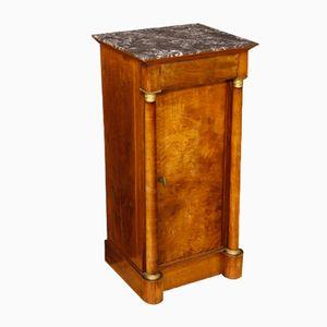 Antiker Französischer Nachttisch aus Walnussholz