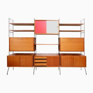 Mid-Century German Teak Wall Unit