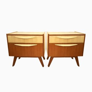 Teak Nightstands, 1950s, Set of 2