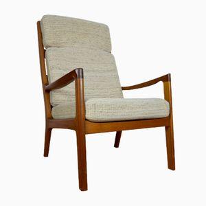 Dänischer Sessel aus Teak mit Hoher Rückenlehne von Ole Wanscher für Cado, 1970er