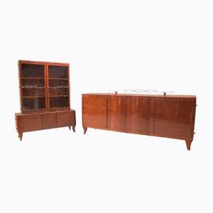 Art Deco Sideboard & Anrichten Set, 1930er