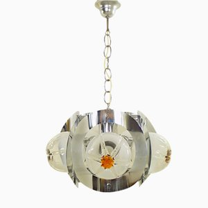 Vintage Murano Glass Chandelier from Mazzega, 1970s
