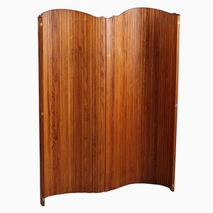 Curved Wood Screen from Baumann, 1950s