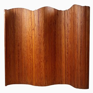 Curved Wooden Screen from Baumann, 1950s