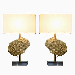 Vintage Clea Table Lamps from Maison Charles, Set of 2