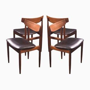 Esszimmerstühle von Ib Kofod-Larsen für G-Plan,1960er, 4er Set