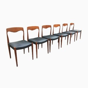 Vintage Living Room Chairs By Niels Otto Møller For J.L. Møllers, Set Of 6