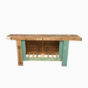 Antique French Carpenter's Workbench