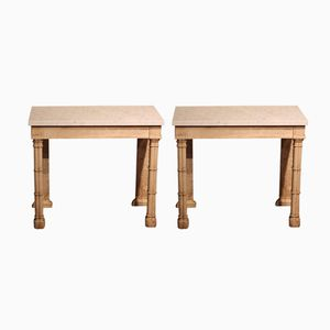 19th-Century Small Console Tables, Set of 2