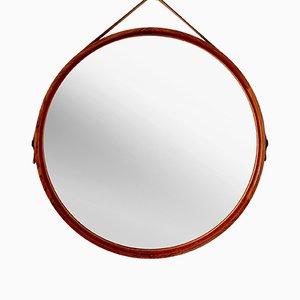Rosewood Mirror by Uno & Östen Kristiansson for Luxus, 1960s