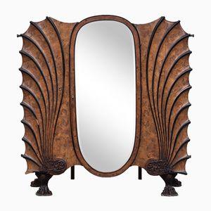 Jugendstil Kleiderschrank mit Spiegel