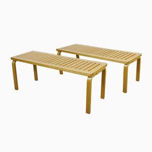 Vintage Model 153 Benches by Alvar Aalto for Artek, Set of 2