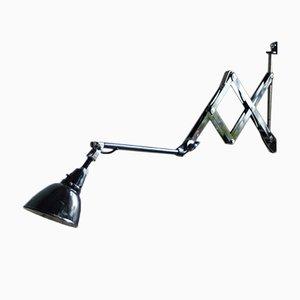 Vintage 110 Scissor Lamp with Enamel Shade by Curt Fischer for Midgard