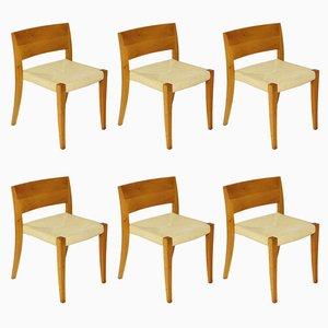 Esszimmerstühle von Molteni, 1980er, 6er Set