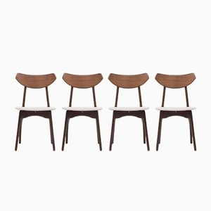 Esszimmerstühle von Louis van Teeffelen für Wébé, 1950er, 4er Set