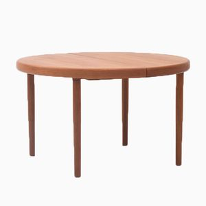 Danish Round to Oval Dining Table, 1960s