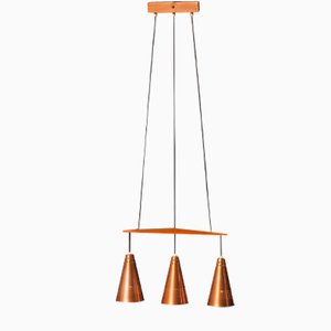 Copper and Teak Pendant by Hans-Ange Jakobsson, 1950s
