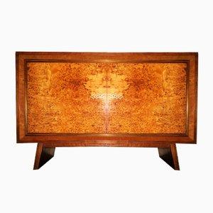 Art Deco Burl Walnut Cabinet, 1920s