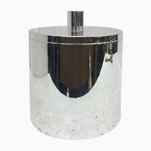 Italian Silver-Plated Ice Bucket from Lavorazione Italiana Argenteria Silver, 1970s