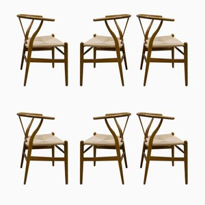 Vintage CH24 Wishbone Chairs by Hans Wegner for Carl Hansen & Søn, Set of 6