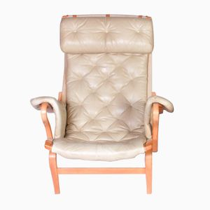 Vintage Leather Pernilla Lounge Chair by Bruno Mathsson for Dux